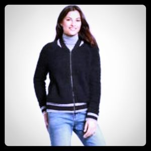 A new day bomber jacket sweater black and white
